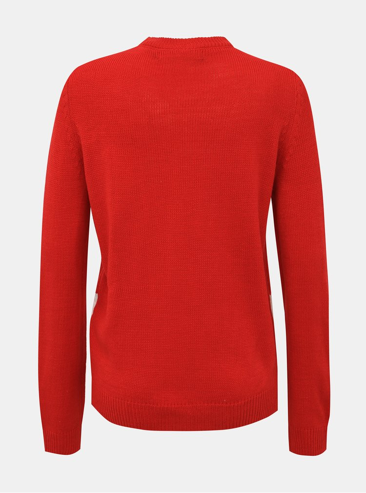 Červený svetr s vánočním motivem VERO MODA Snowman
