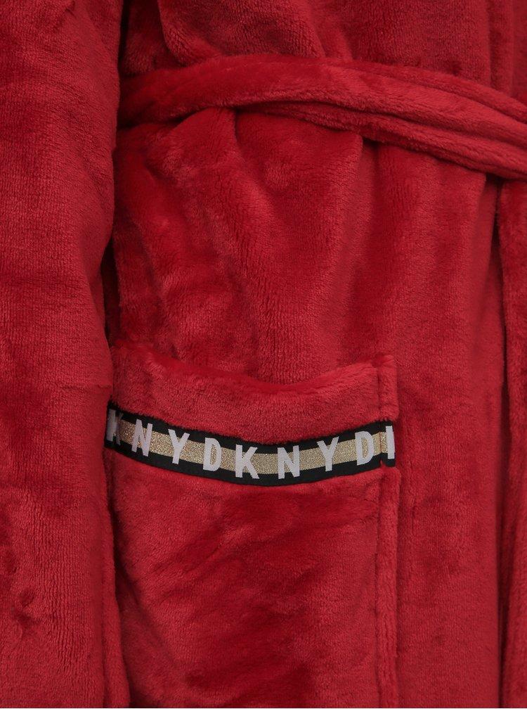 Červený župan DKNY Robe