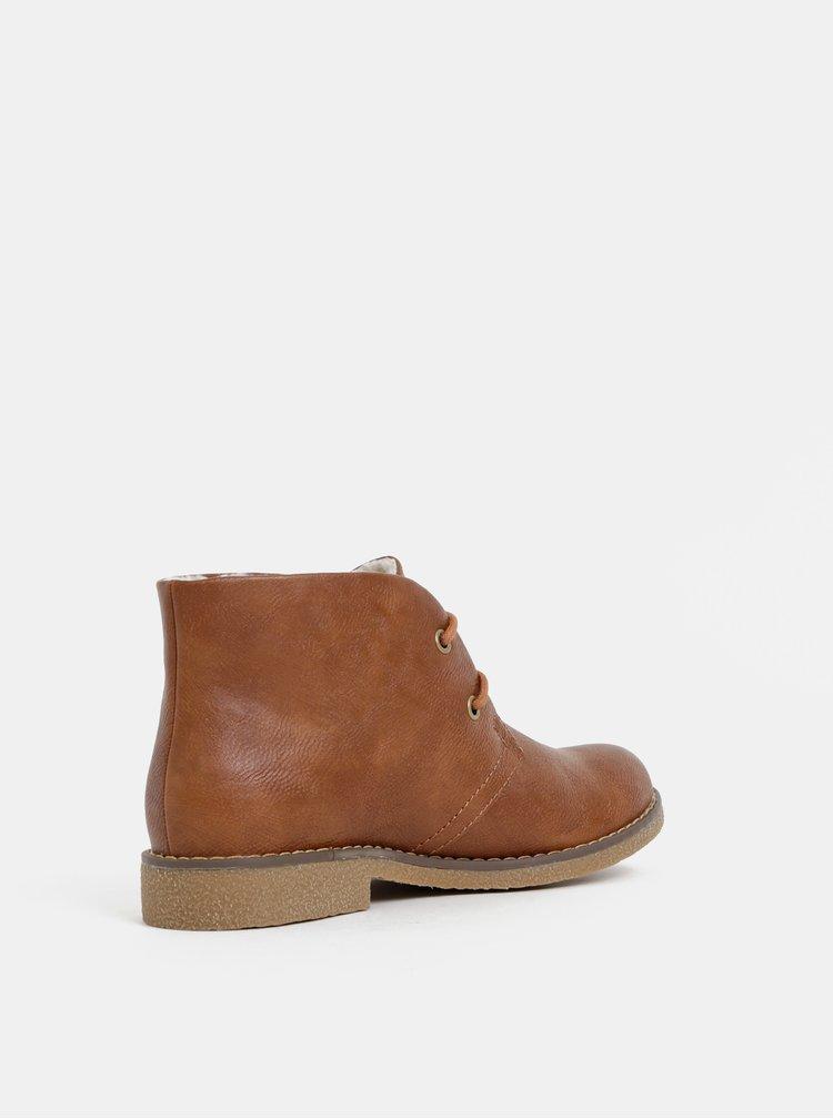 Hnědé dámské zimní kotníkové boty s.Oliver