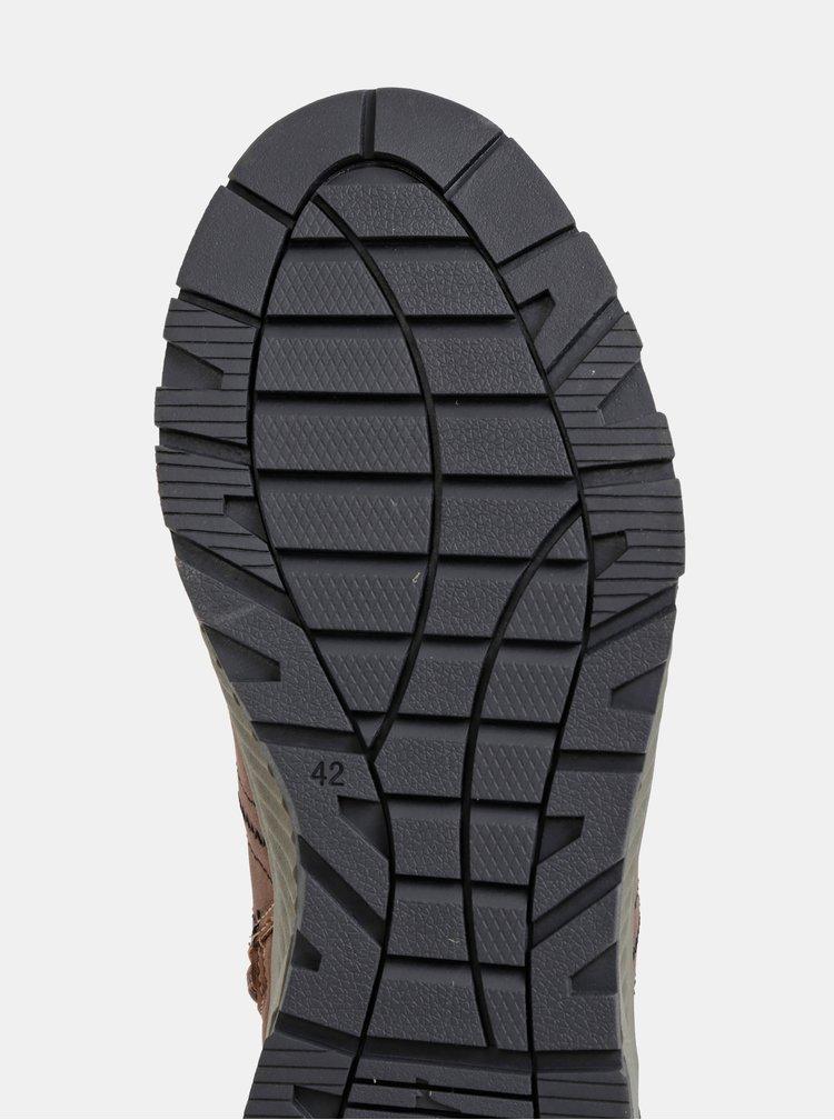Hnedé pánske zimné členkové topánky s.Oliver