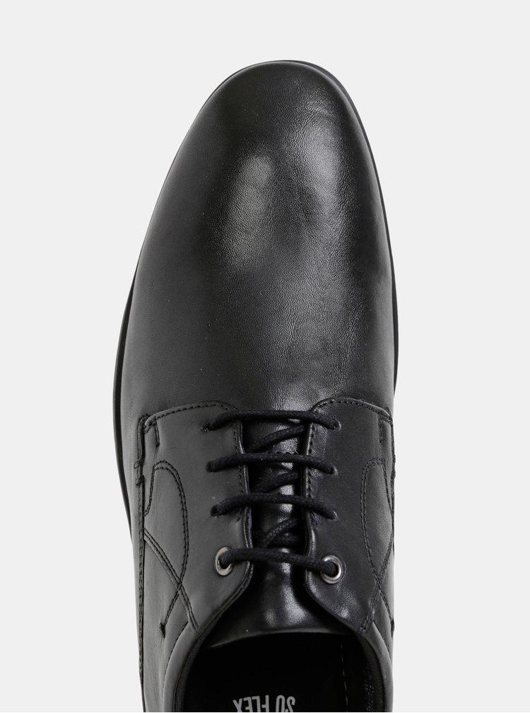 Čierne pánske kožené polobotky s.Oliver
