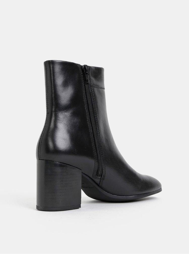 Čierne dámske kožené kotníkové topánky Vagabond Nicole