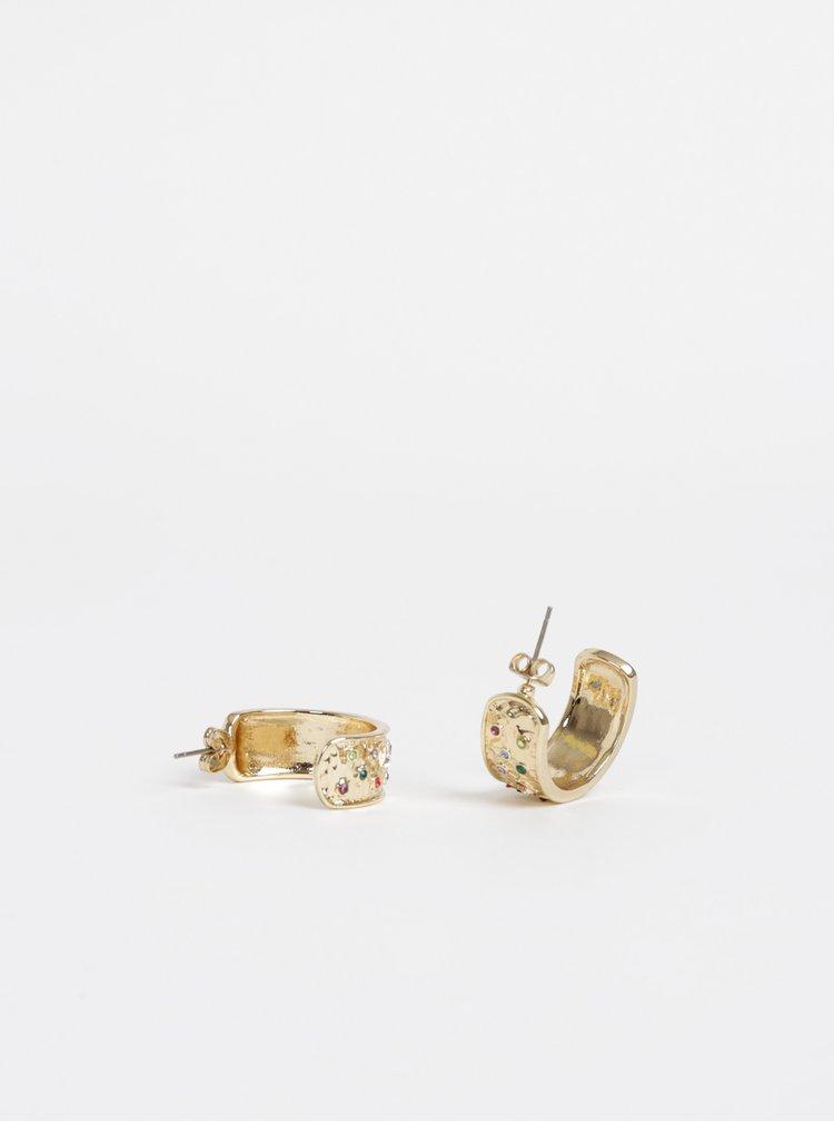 Náušnice v zlatej farbe Pieces Nouma