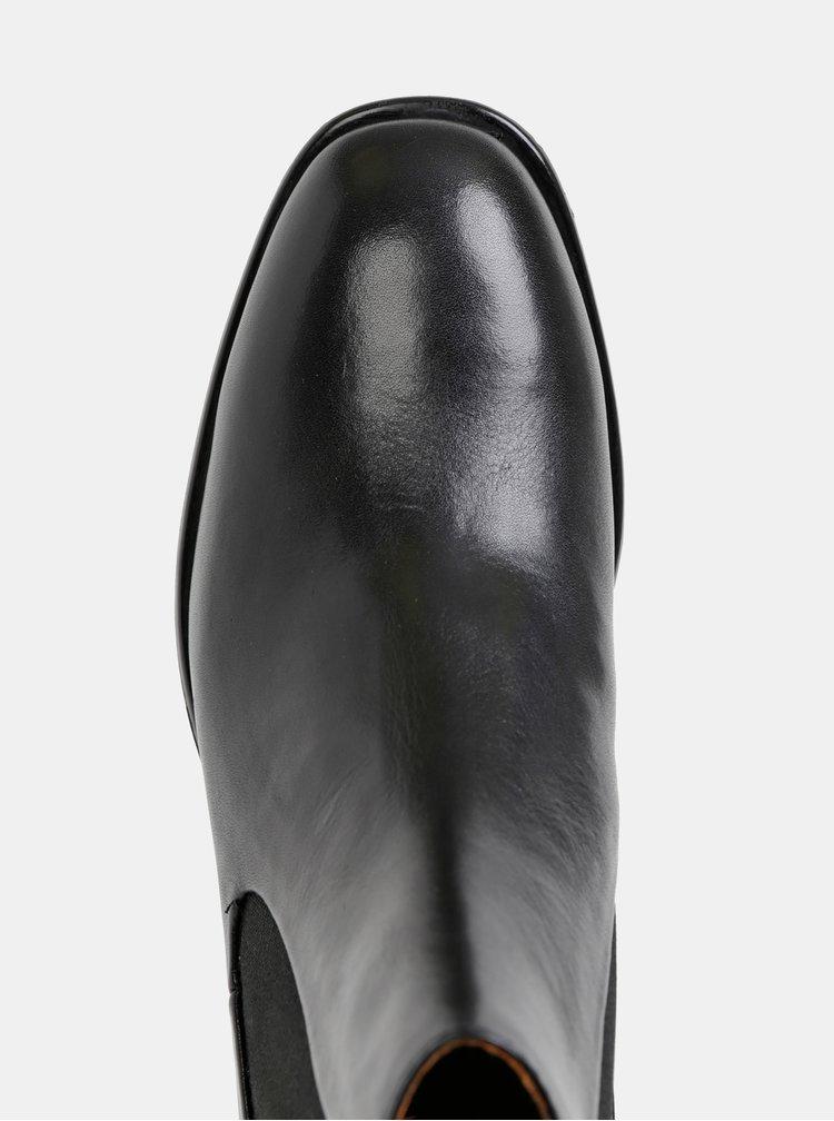 Čierne dámske kožené kotníkové topánky Vagabond Mira