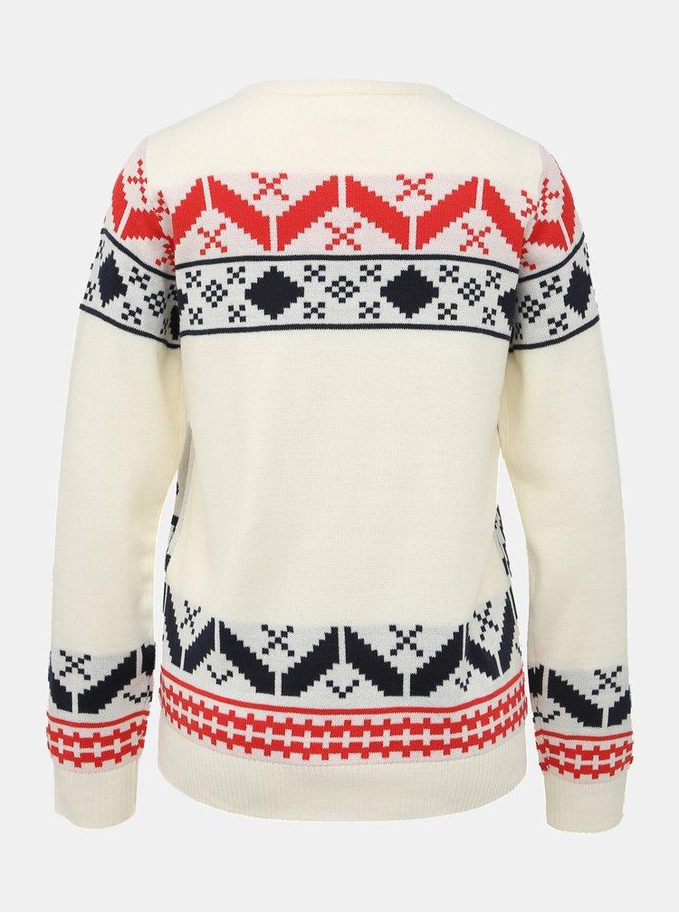 Biely sveter s vianočným motívom VILA Jiki