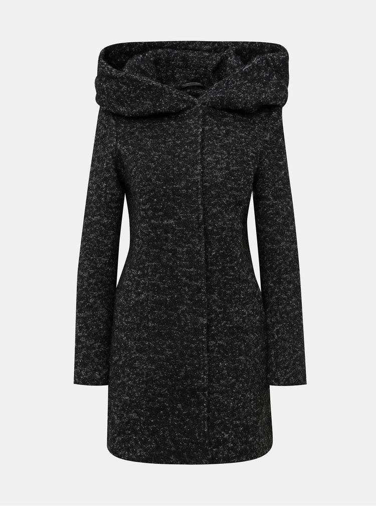 Tmavošedý kabát s prímesou vlny VERO MODA Verodona