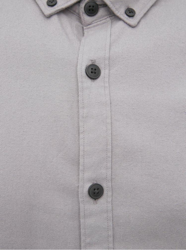 Šedá slim fit košeľa Jack & Jones Calgary