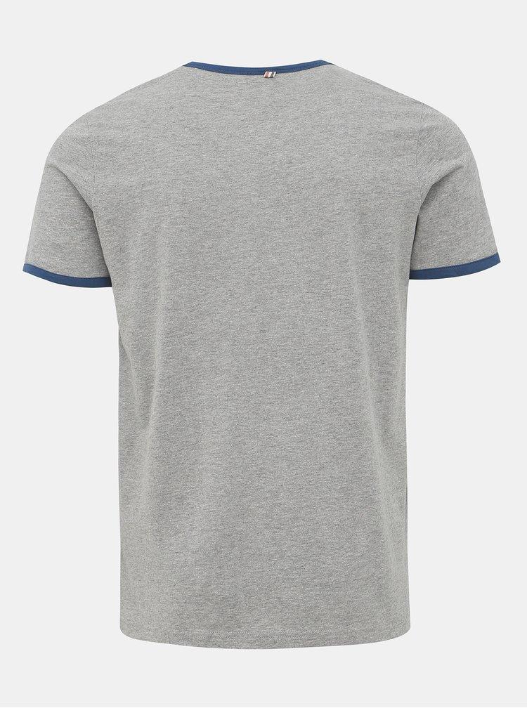 Šedé tričko s potiskem Jack & Jones Retro Jack