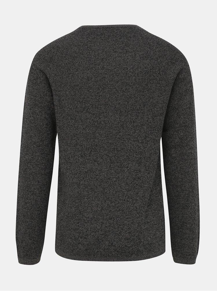Tmavě šedý basic svetr Selected Homme Shane