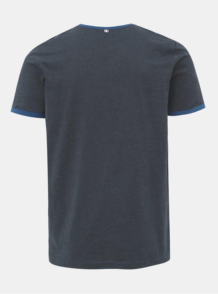 Tmavomodré tričko s potlačou Jack & Jones Retro Jack