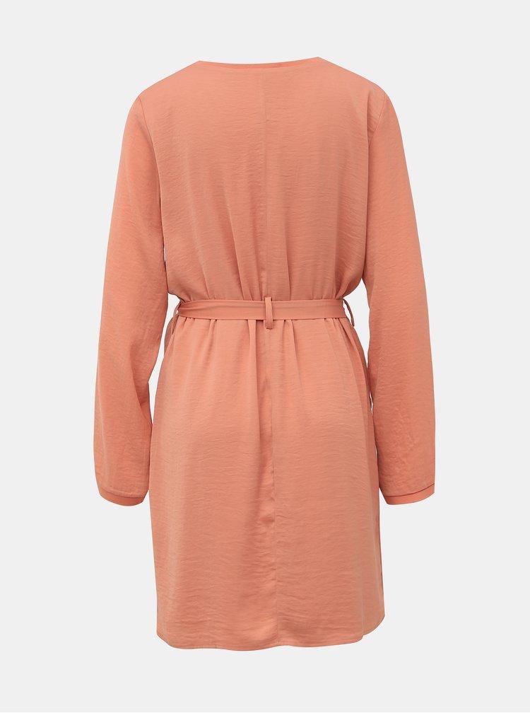 Rúžové šaty VILA Melli