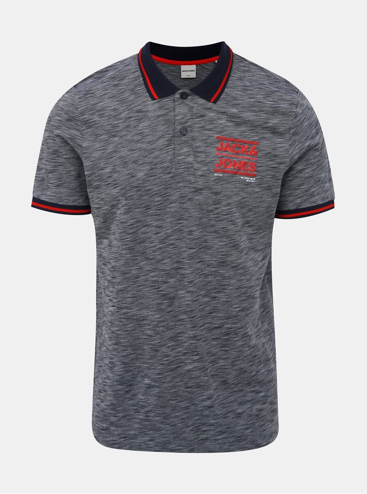 Šedé polo tričko Jack & Jones CORE Foni
