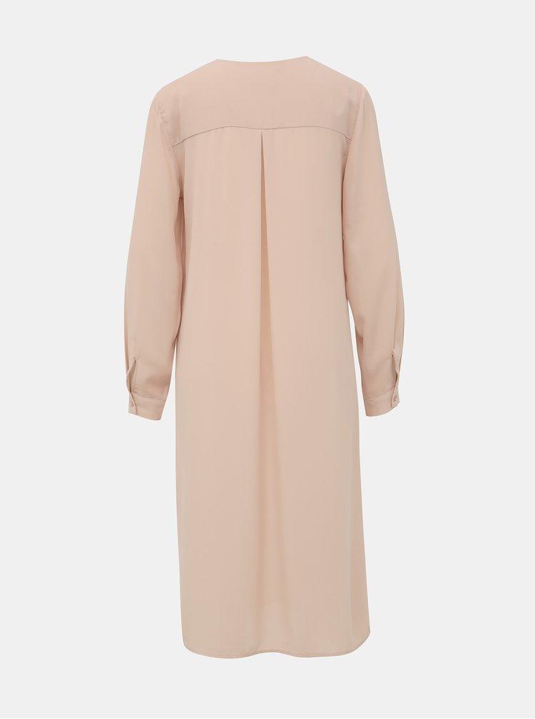 Svetloružové šaty VILA Lucy