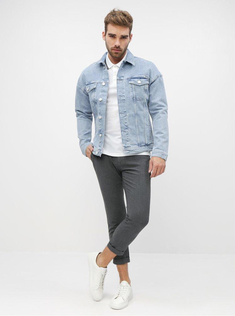 Tmavě šedé zkrácené chino kalhoty Casual Friday by Blend