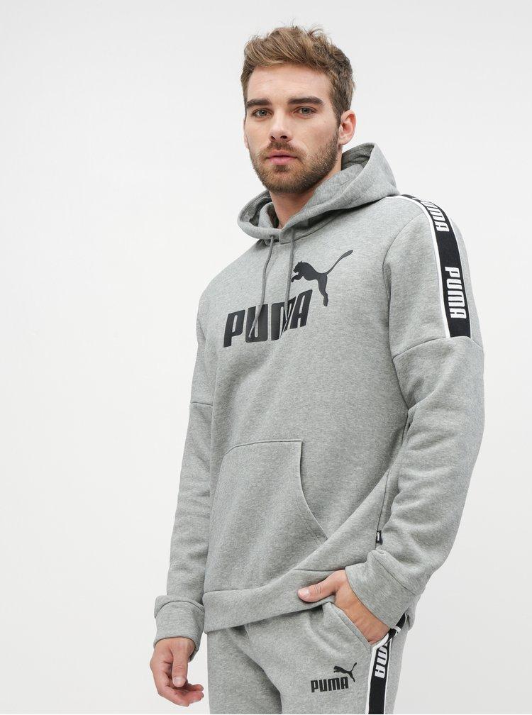 Šedá pánska mikina Puma Amplified