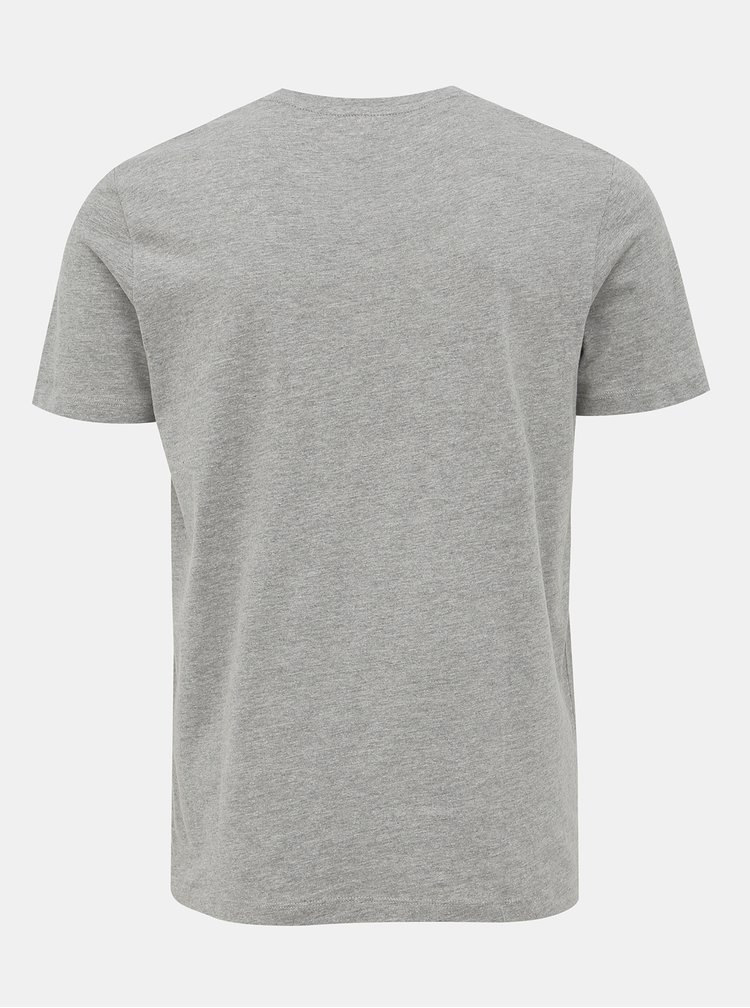 Šedé tričko s potlačou Jack & Jones Booster