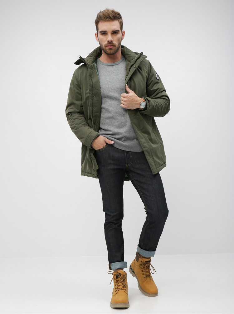 Tmavomodré slim fit rifle Jack & Jones Glenn