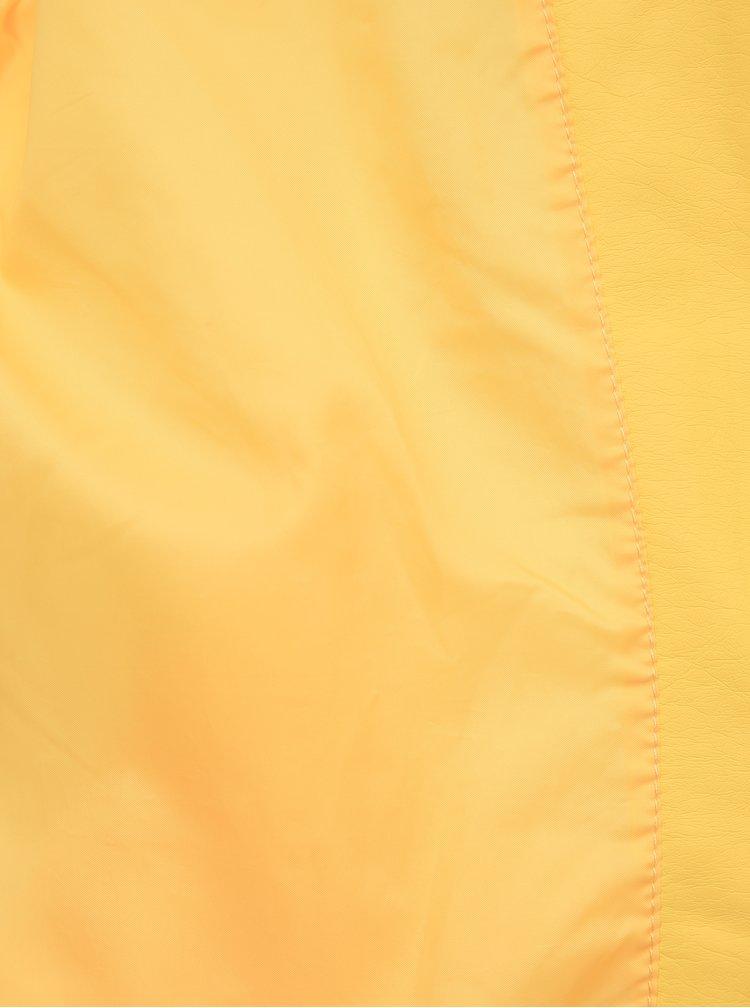 Žltá koženková bunda VERO MODA Ria