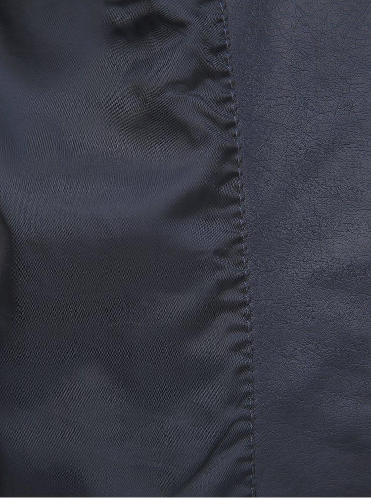 Tmavomodrá koženková bunda VERO MODA Ria