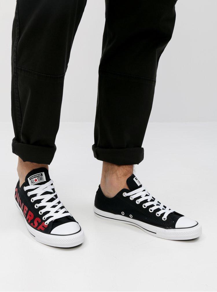 Černé pánské tenisky s potiskem Converse Chuck Taylor