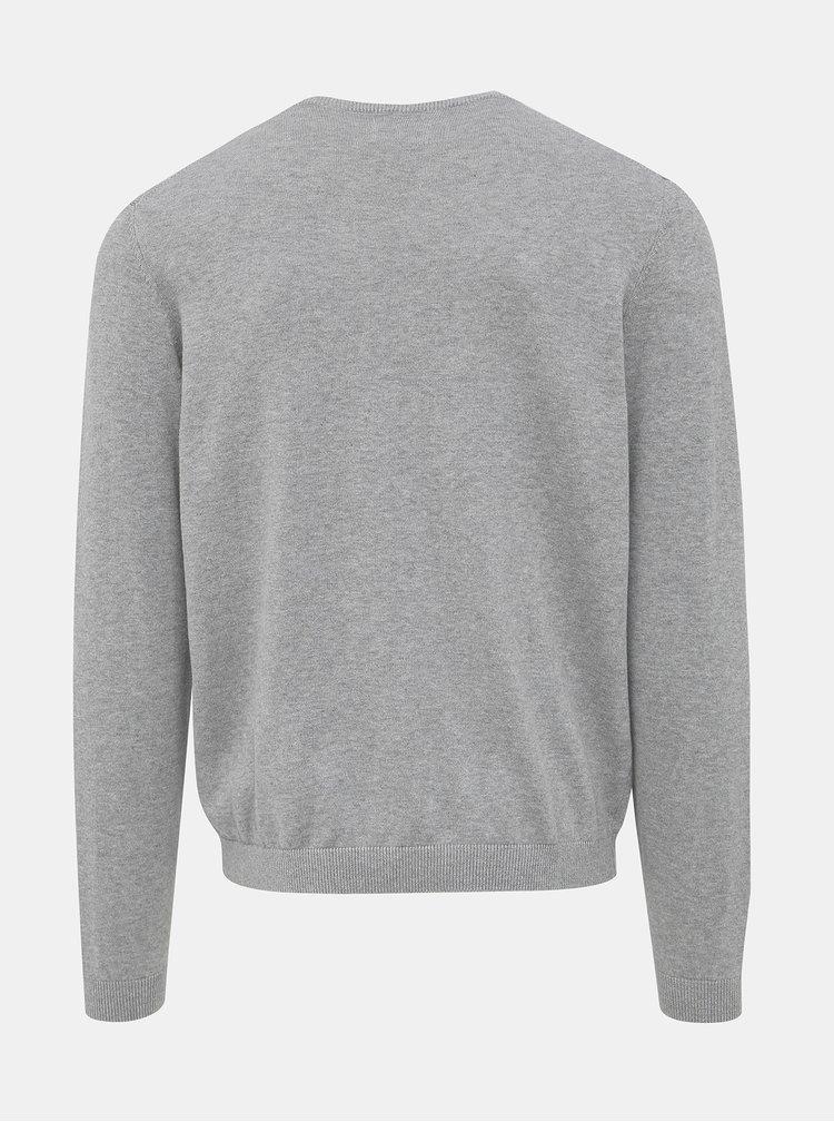 Šedý basic sveter ONLY & SONS Alex