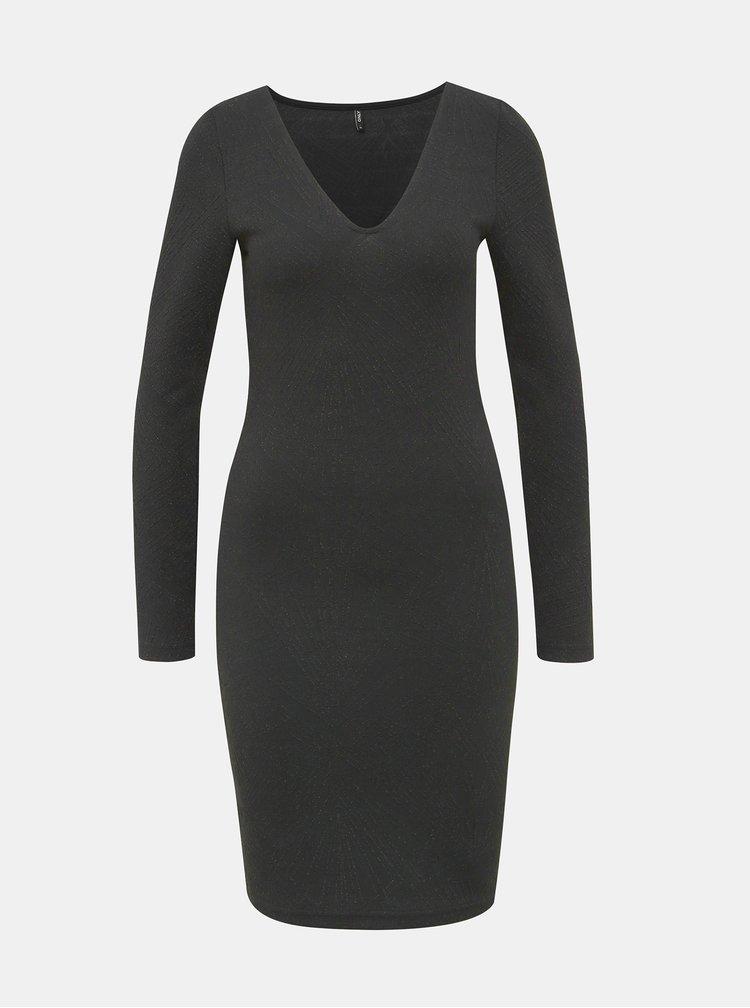 Černé vzorované pouzdrové šaty ONLY Shine