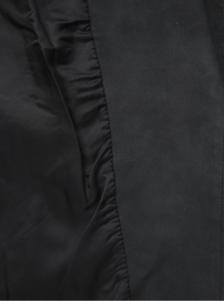 Tmavošedá koženkový bunda ONLY CARMAKOMA Avana