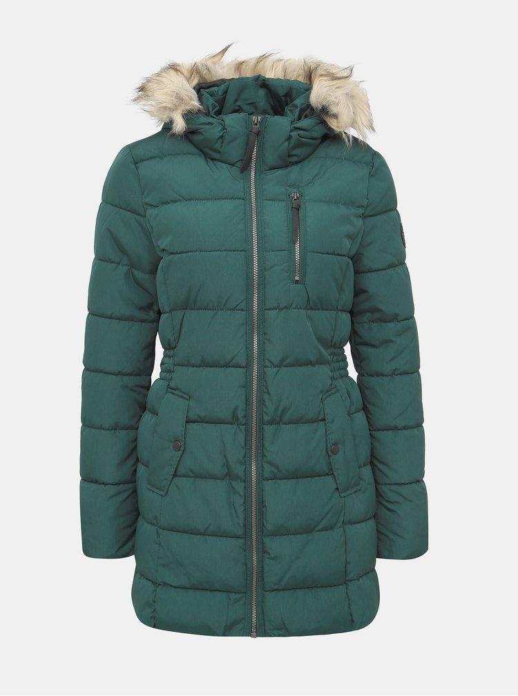 Zelený zimní prošívaný kabát ONLY North