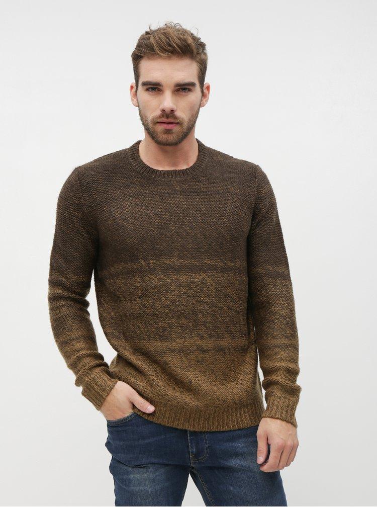 Hnedý sveter ONLY & SONS Callen