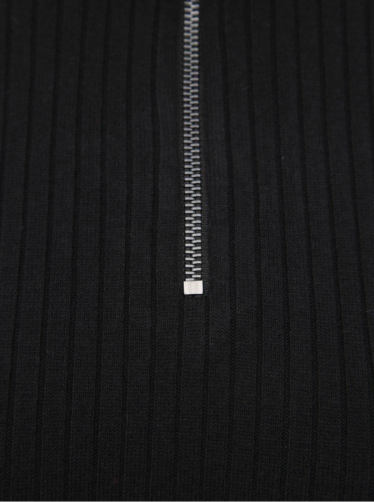 Černé pouzdrové svetrové šaty ONLY Tyra