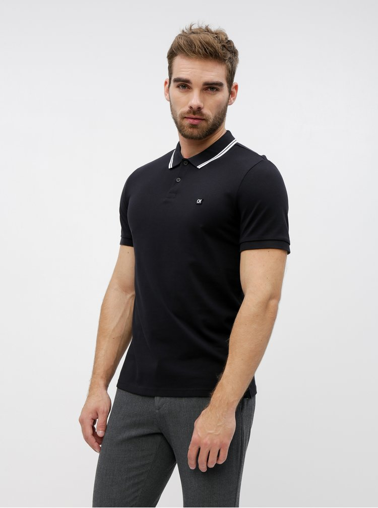 Černé pánské polo tričko Calvin Klein Jeans