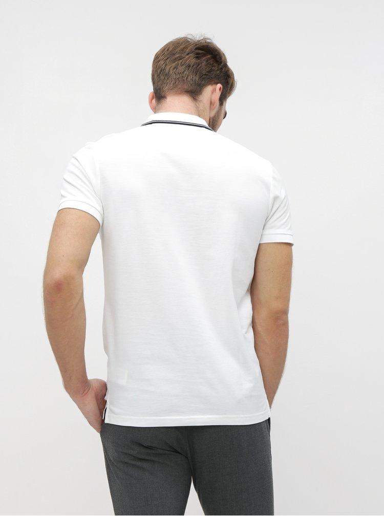 Biela pánska polokošeľa Calvin Klein Jeans