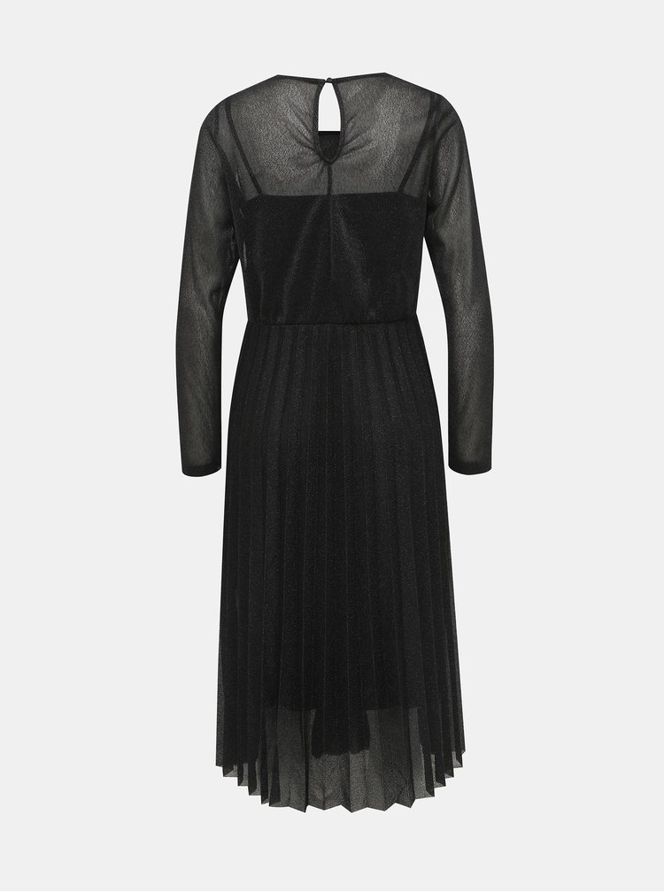 Černé třpytivé šaty s plisovanou sukní ONLY Daniella