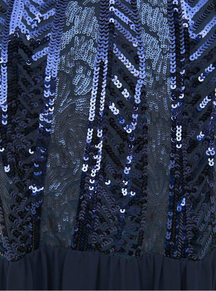 Tmavě modré maxišaty s flitry Zizzi Drea