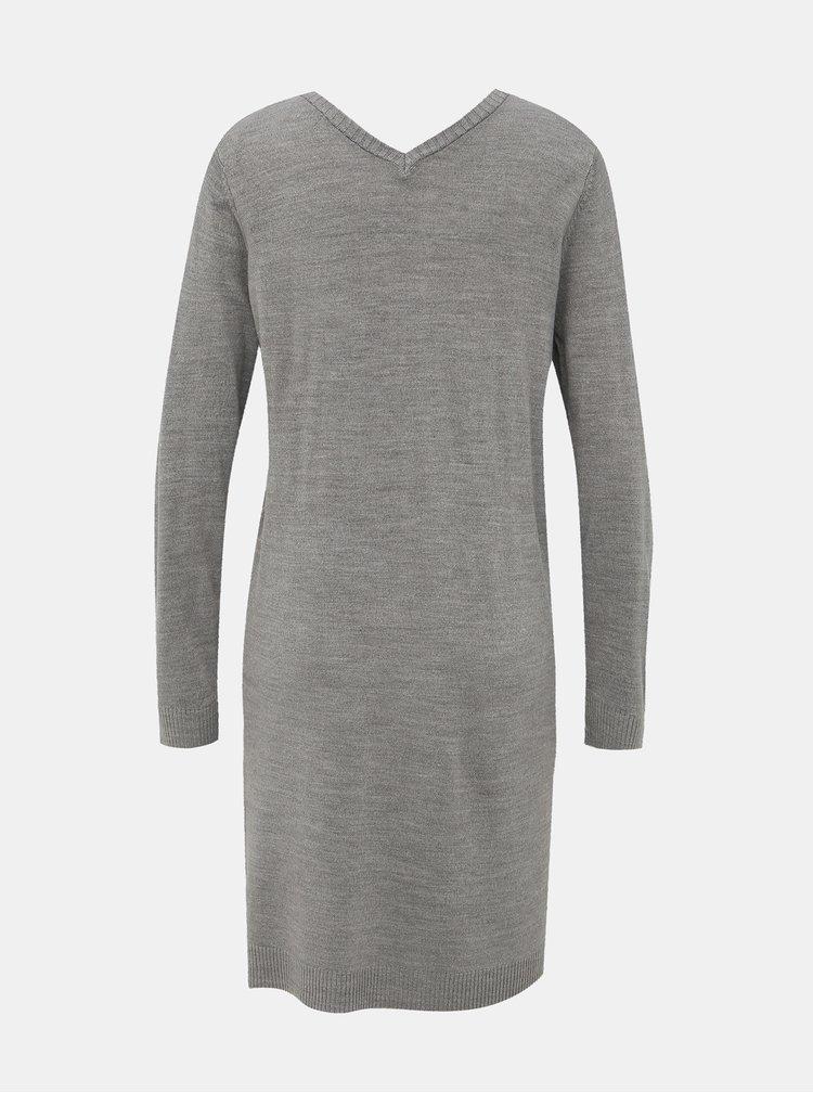 Šedé svetrové šaty Jacqueline de Yong Valley
