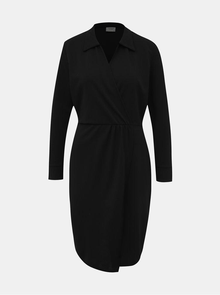 Čierne púzdrové šaty Jacqueline de Yong Gaia