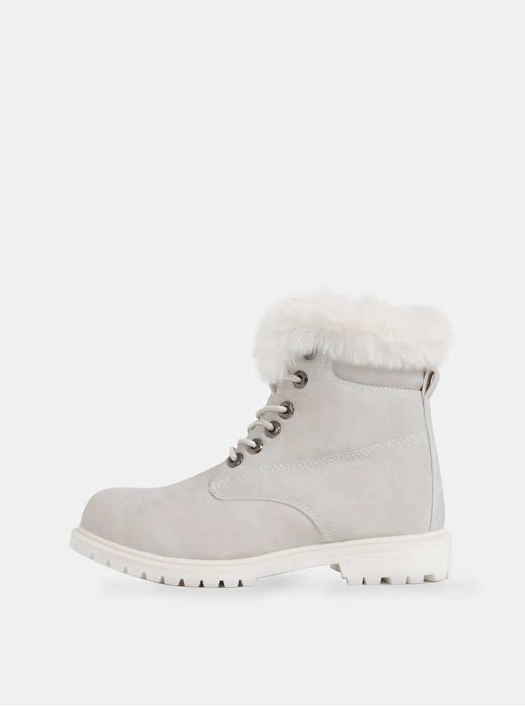 Svetlošedé dámske zimné kotníkové topánky Haily´s Monty