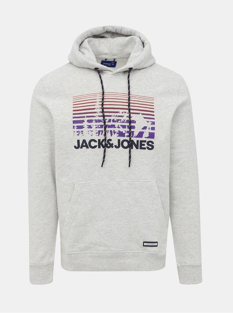 Světle šedá mikina Jack & Jones Nashville
