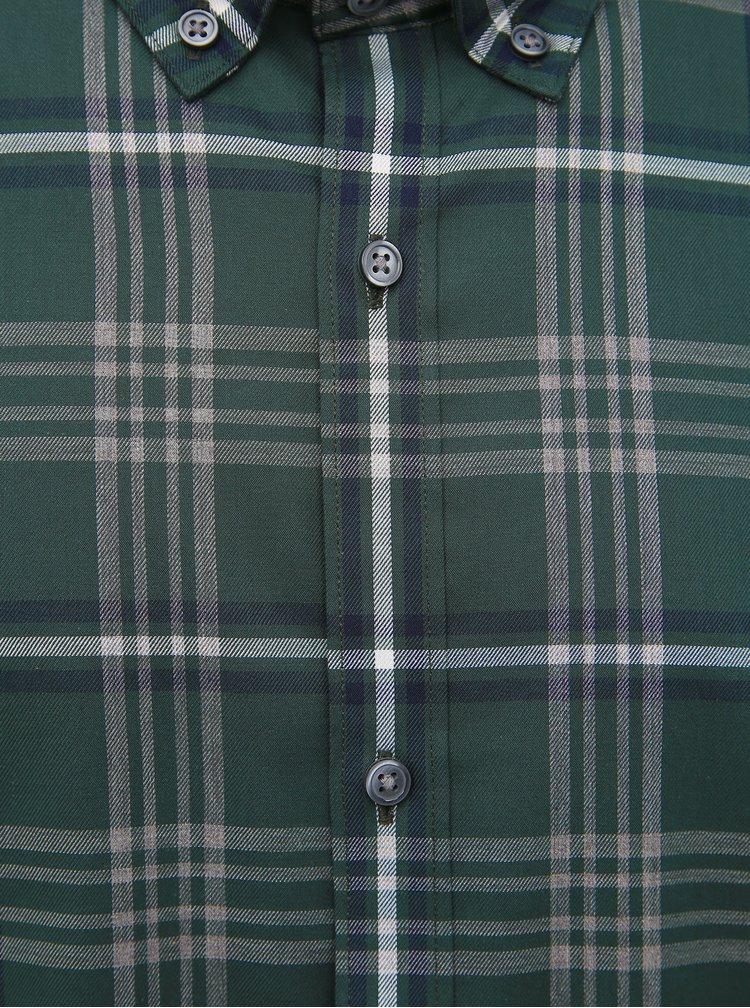Zelená kostkovaná slim fit košile Jack & Jones Focus