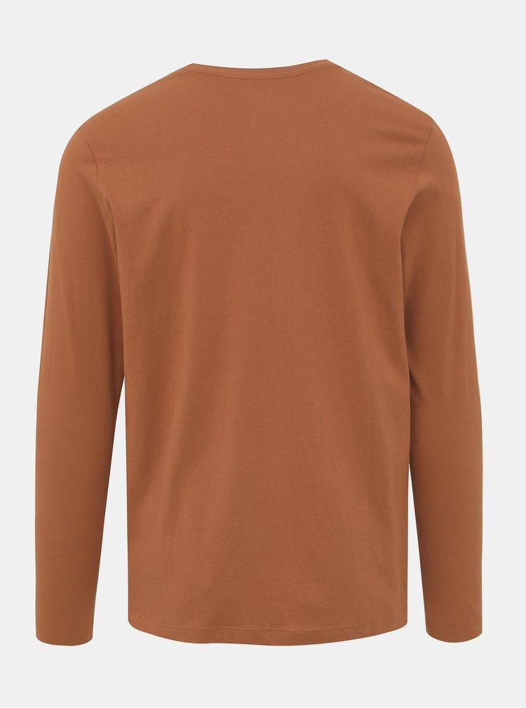 Hnedé tričko Jack & Jones Brandon