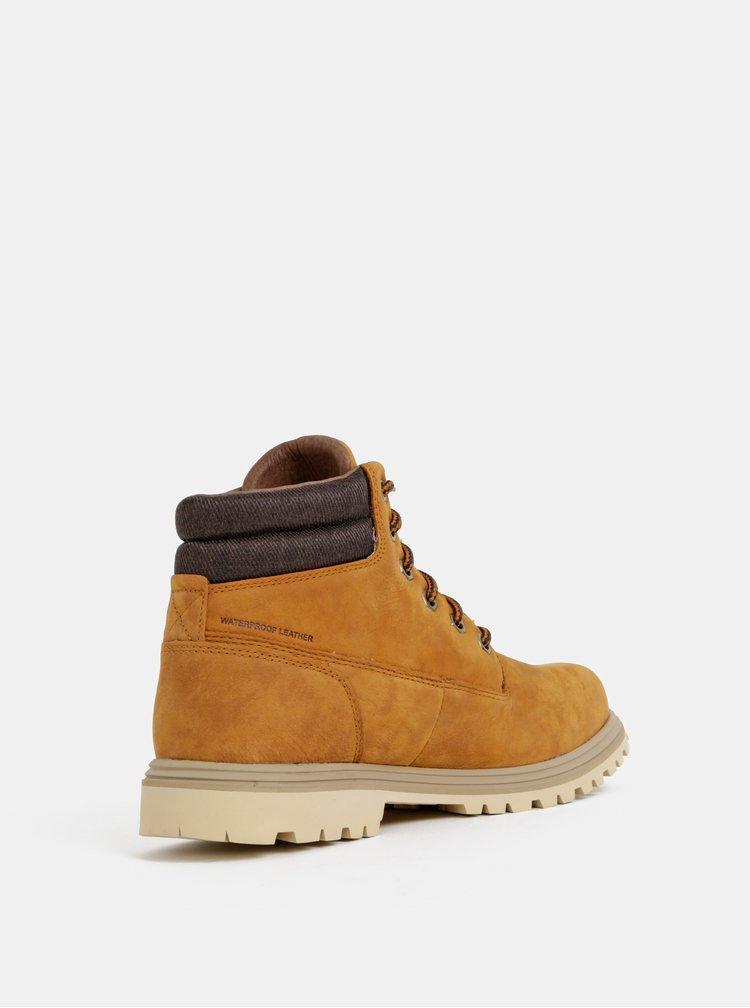 Hnedé pánske kožené členkové topánky HELLY HANSEN Fremont