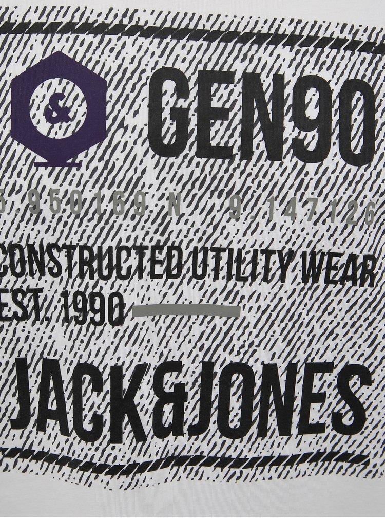 Biele slim fit tričko Jack & Jones Allas