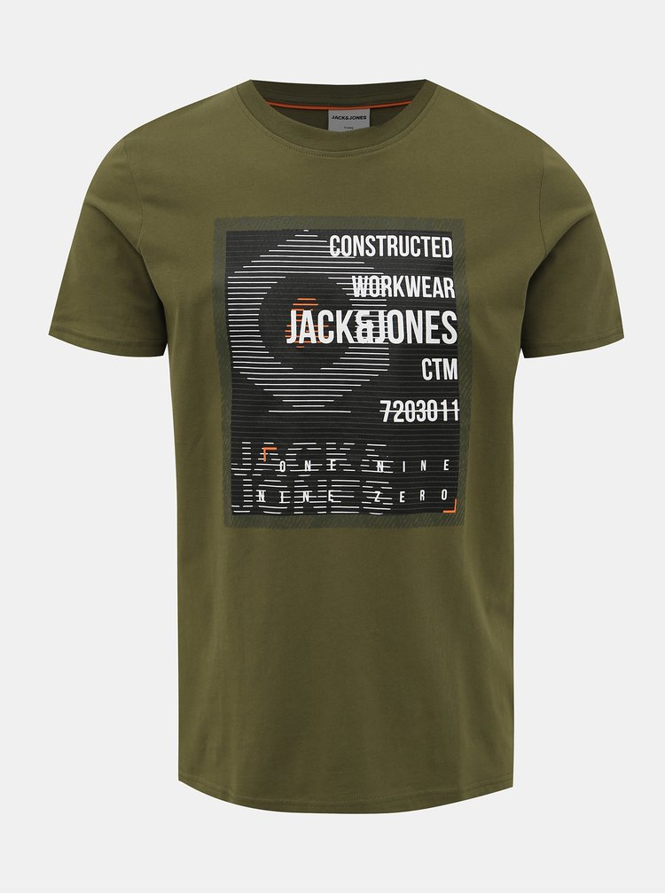 Zelené slim fit tričko Jack & Jones Allas