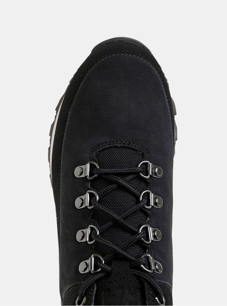 Čierne pánske kožené členkové topánky HELLY HANSEN Flux Four