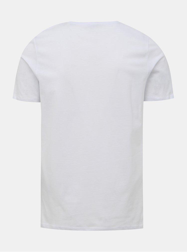Biele slim fit tričko Jack & Jones Cloak