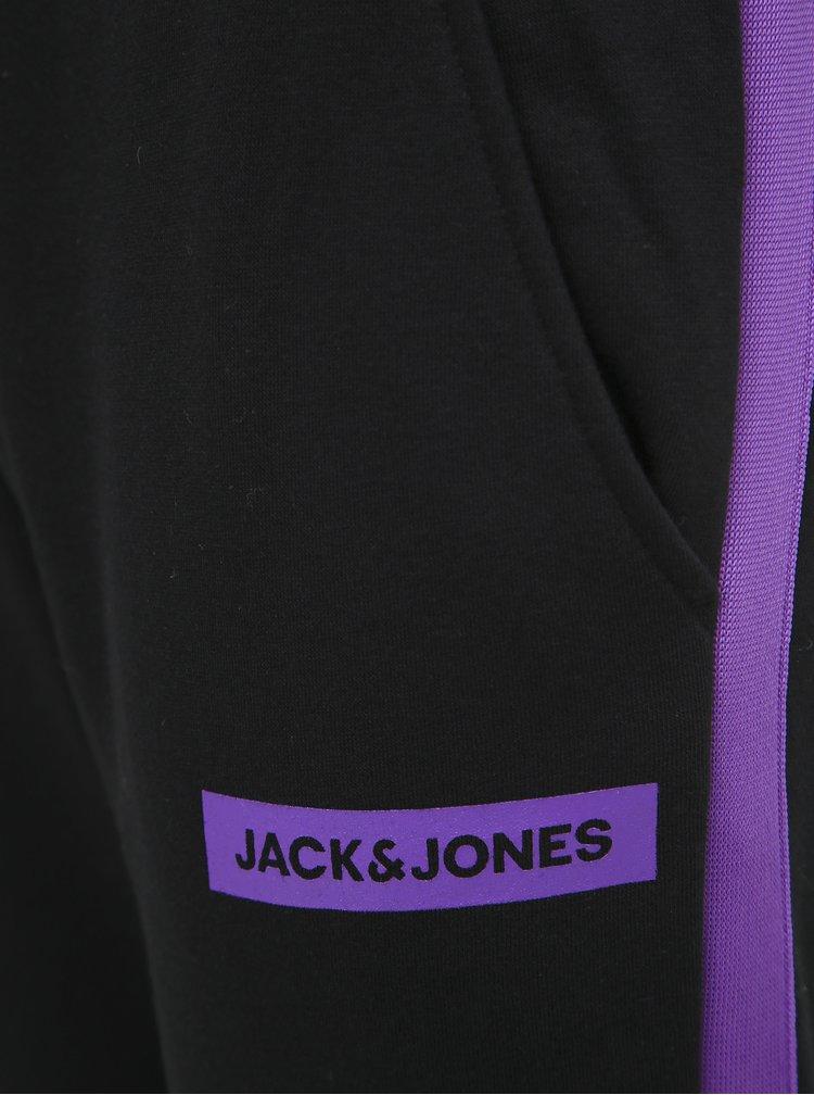 Černé tepláky s lampasem Jack & Jones Will