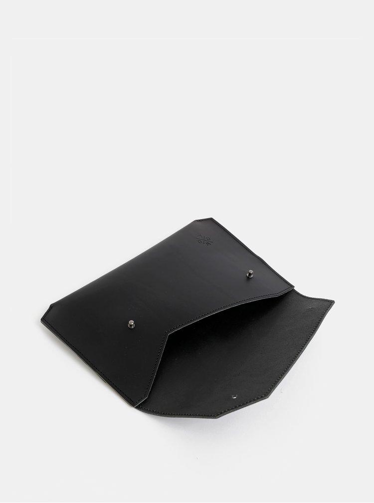 Černé kožené psaníčko WOOX Epistula atera