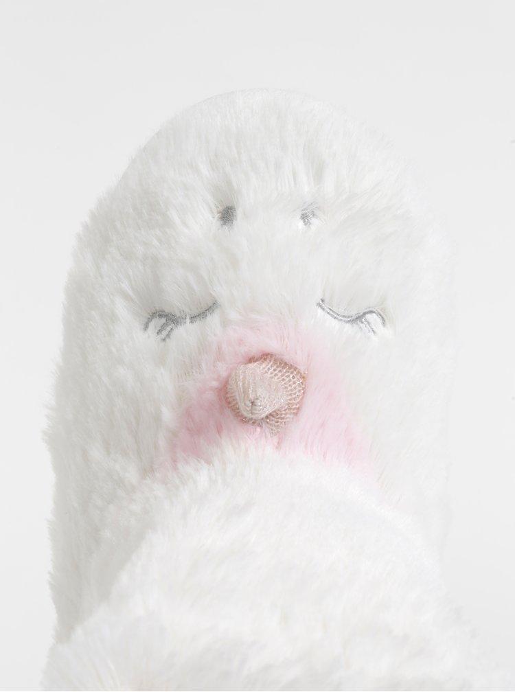 Bílé papuče ve tvaru jednorožce Dorothy Perkins