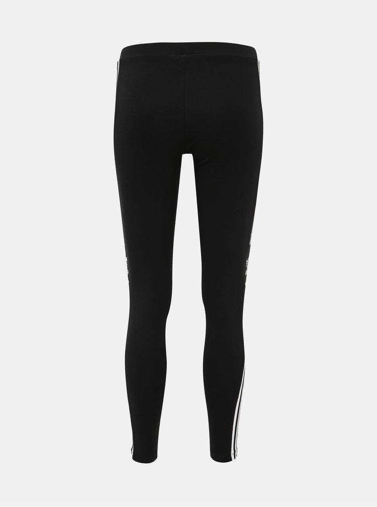 Čierne dámske legíny s pásom adidas Originals Trefoil