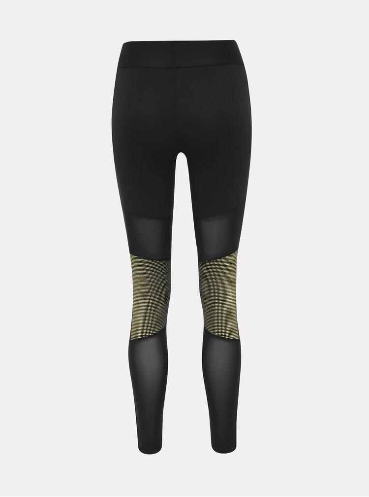 Černé dámské sportovní legíny s potiskem adidas Performance Glam
